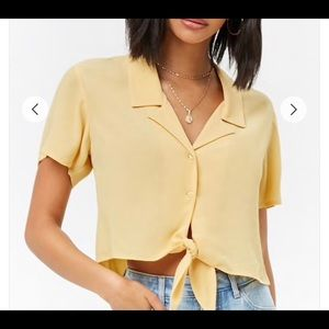 Forever 21 Tie-Front Shirt